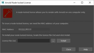 Arnoldのライセンス登録