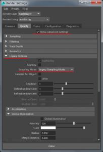 Sampling Modeの設定